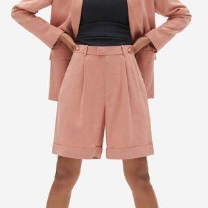 Everlane Pink High Waist Put Together Pleat Shorts